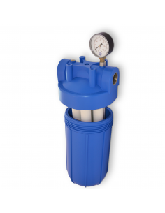 Rio 2000 | Hauswasserfilter Set:Big Blue Gehäuse mit Filter