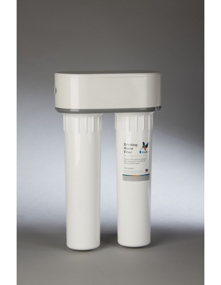 Fluorid-Duo Untertisch Küchenfilter für Trinkwasserqualität (ohne Anschluss-Set)