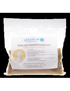 Resin zur Entfernung der Wasserhärte aus (Trink-)Wasser. Zur Verwendung in Filteranlage mit Leerpatrone (Quellklar RF 00)