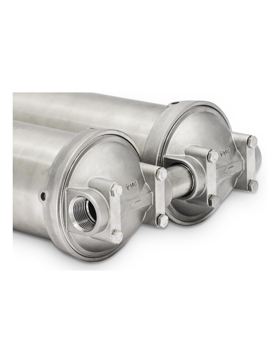 KS 550   Doppeltes Einbau Wasserfiltergehäuse aus Edelstahl