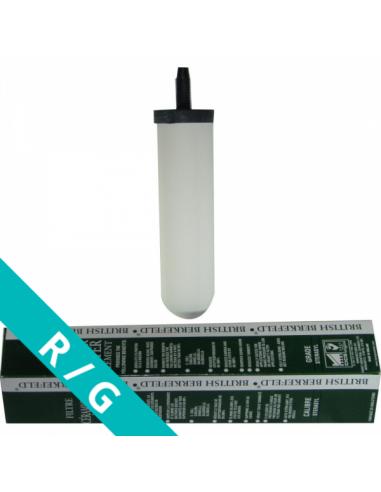Wasserfilter KF6 (Doulton Super Sterasyl), Keramik-Aktivkohle für Gravitationsfilter. Im Bild mit Verpackung
