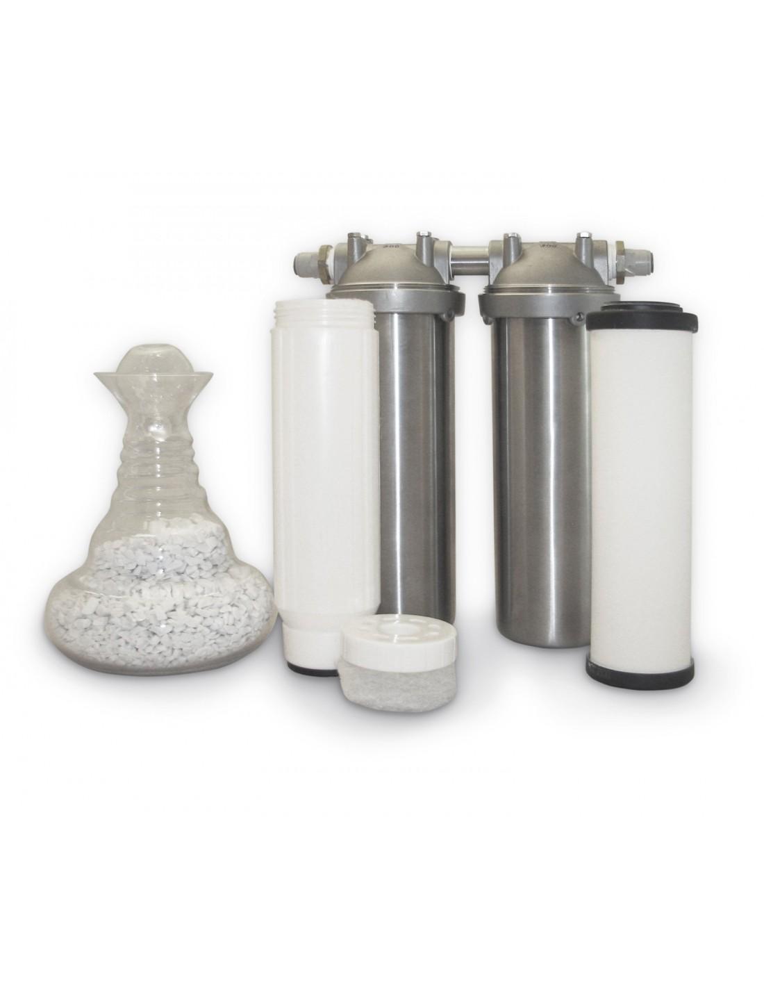 filter zur belebung von trinkwasser im edelstahlgeh use. Black Bedroom Furniture Sets. Home Design Ideas