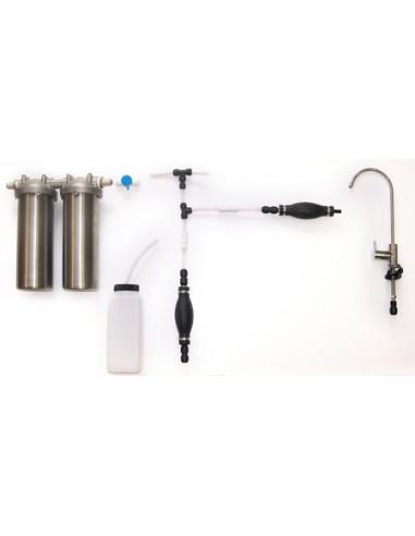 Desinfektionsset zur Entkeimung von Wasserleitungen und Wasserauslässe wie Hähne, Jets