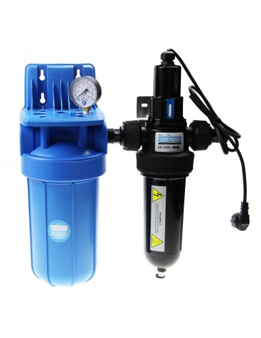 Big Blue UV - Gehäuse aus Kunststoff, mit UV-Lampe