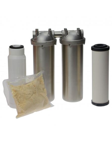 Nitrat-Duo Küchenfilter in Edelstahl
