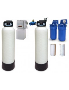 T11 Druckfilter L , 5-stufig, mit Be- und Entlüftung für agessiv-saures Wasser